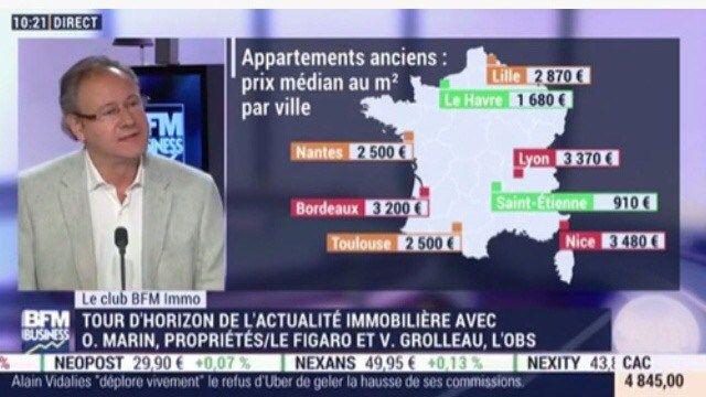 Tour d'horizon de la presse immobilière avec Olivier Marin, rédacteur en chef Propriétés Le Figaro, Virginie Grolleau journaliste à L'Obs et Charlyne Legris journaliste à BFM Business. …