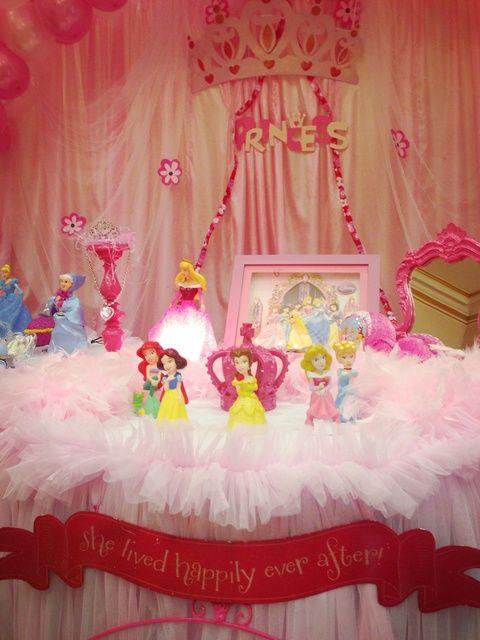 Decor At A Princess Party