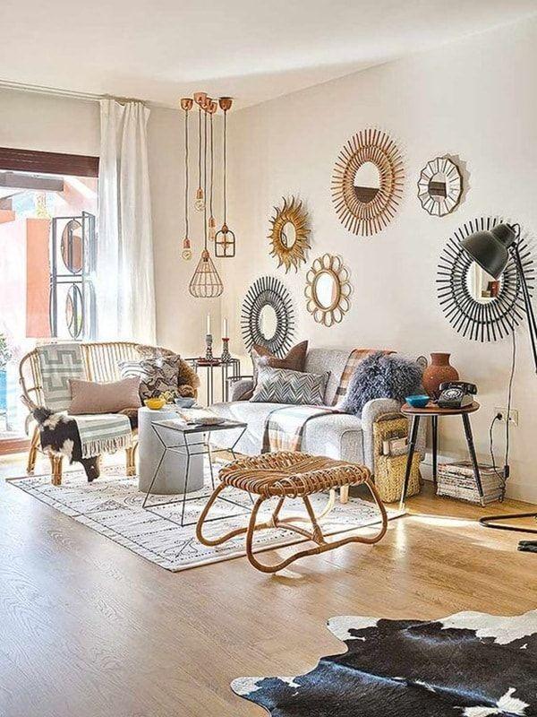 Ideas para decorar tu casa en primavera muebles de mimbre mimbre y decoraci n - Espejos de mimbre ...