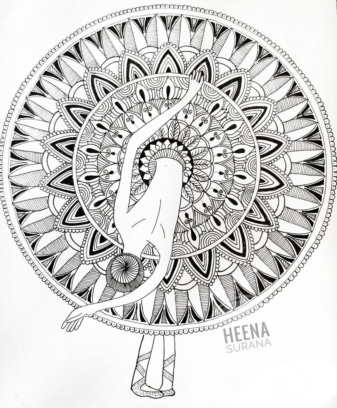 Pin By Lavanya Rao On Zentangle Art Mandala Art Mandala Coloring Mandala Painting
