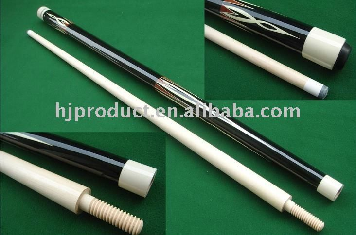 AA Canada Maple Thicker Black Paint Tip Carom Billiards Cue $3~$15