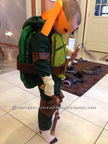 Cool homemade ninja turtles costumes for two children pinterest cool homemade ninja turtles costumes for two children solutioingenieria Image collections