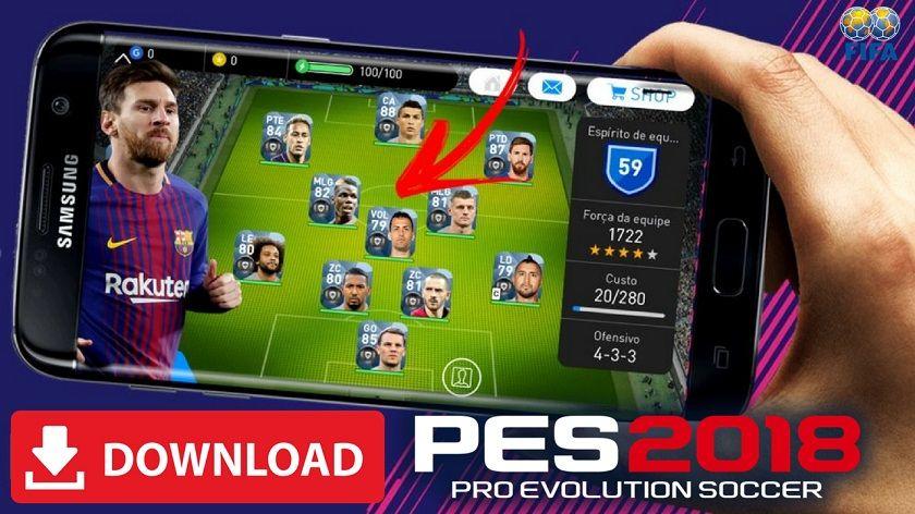 PES 2018 Mod Apk Unlocked Players and Infinite Money