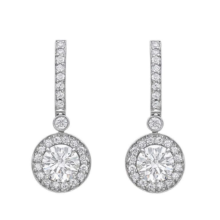 Tiffany Co Diamond Halo Drop Earrings From A Unique Collection Of Vintage At Http 1stdibs Jewelry