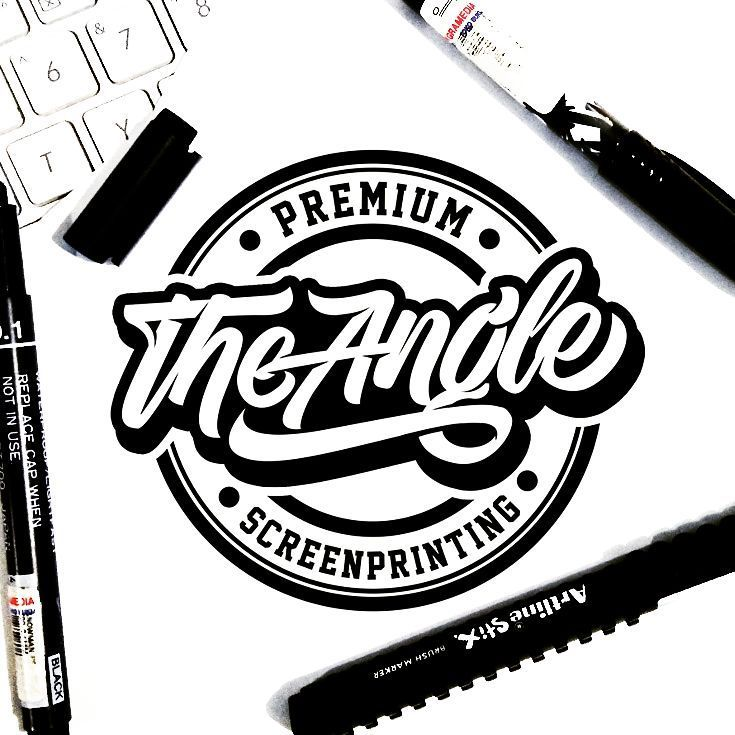 "ROZELART ~Ratno GR Hadiwidjojo on Instagram ""Lettering logo for @theangle screenprinting , follow them they have many cool stuff & projects🔥🔥   AVAIBLE FOR INQUIRY CUSTOM LETTERING &…"" is part of Hand lettering logo - 855 Likes, 10 Comments  ROZELART ~Ratno GR Hadiwidjojo (@r ozelart) on Instagram ""Lettering logo for @theangle screenprinting , follow them they have many cool stuff & projects🔥🔥  …"""