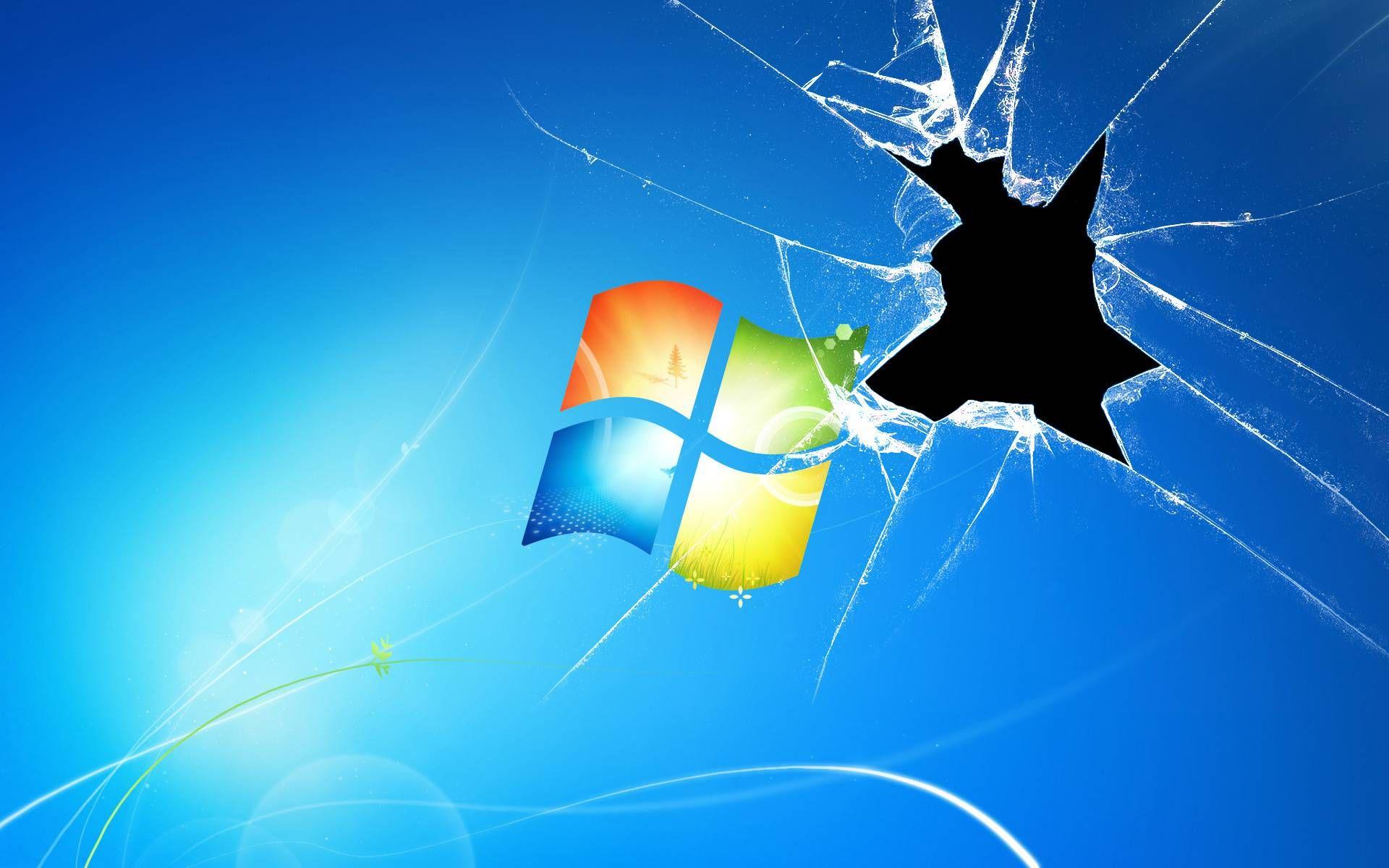 Broken Windows Computer Wallpaper Desktop Wallpapers Windows Wallpaper Broken Screen Wallpaper