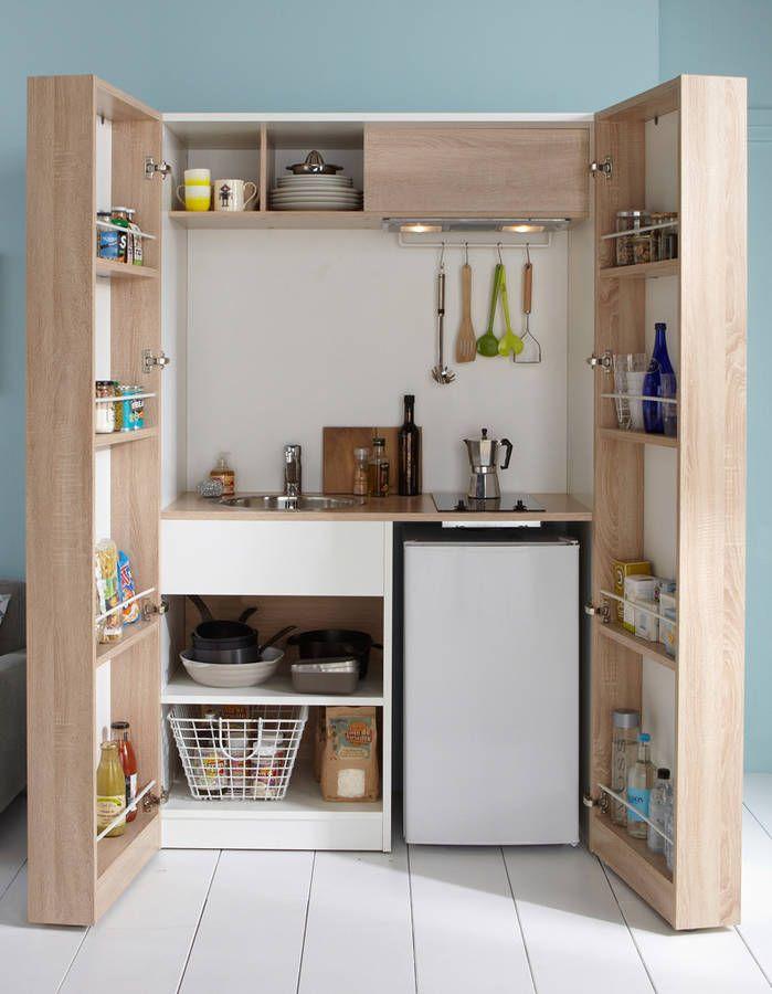 Toutes Nos Astuces Deco Pour Amenager Une Petite Cuisine Elle Decoration En 2020 Mini Cuisine Kitchenette Et Amenagement Petite Cuisine