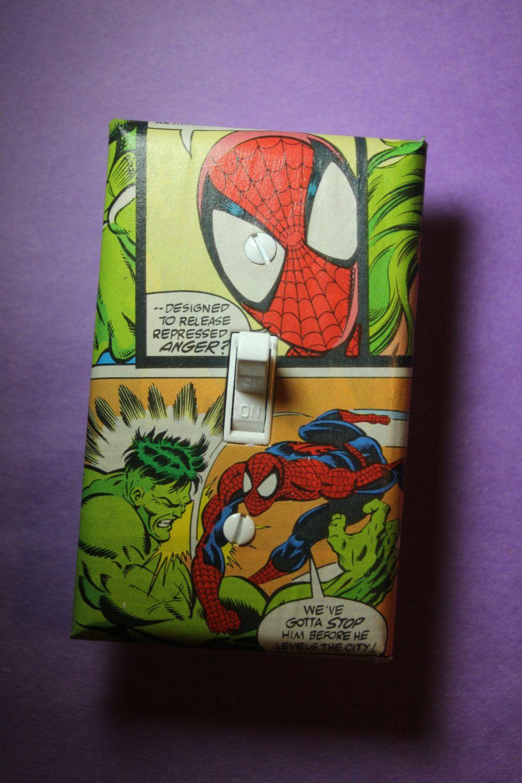 Spiderman Hulk Comic Book Superhero Light Switch Plate