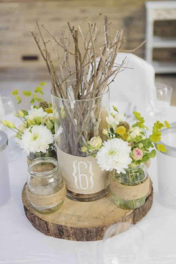 Deco de table · 22 Idées de décorations de mariage champêtre à faire soi, même