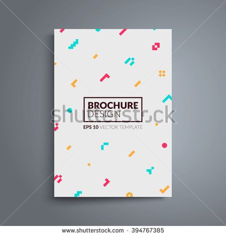 brochure cover design colorful geometric shapes on light background