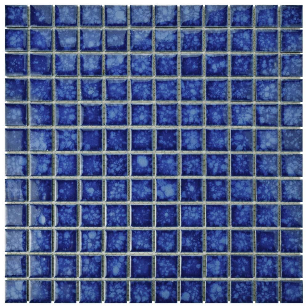 Merola Tile Lagoon Square Pacific 11 3 4 In X 11 3 4 In X 6 Mm Porcelain Mosaic Tile Fyfl1spa The Ho Porcelain Mosaic Porcelain Mosaic Tile Mosaic Flooring