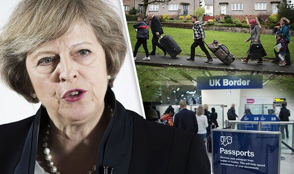 Theresa May stop migrant crisis PM vows end free movement EU