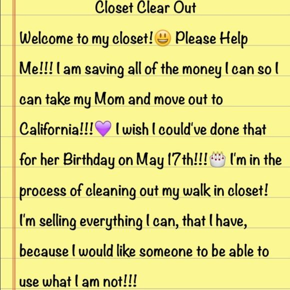 Closet Clear Out!!!😃💜 Thank you for stopping by my closet and have a great day!!!☺️💜 Dresses