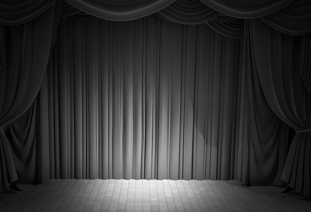 Black Curtain Stage Backdrop For Events Dance Or Theater Hu0024 Black Curtains Stage Backdrop Curtains
