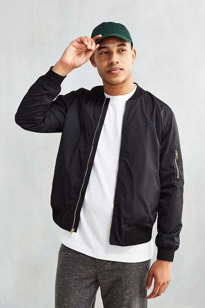 CPO Nylon Summer Bomber Jacket - Urban Outfitters | Franco ...