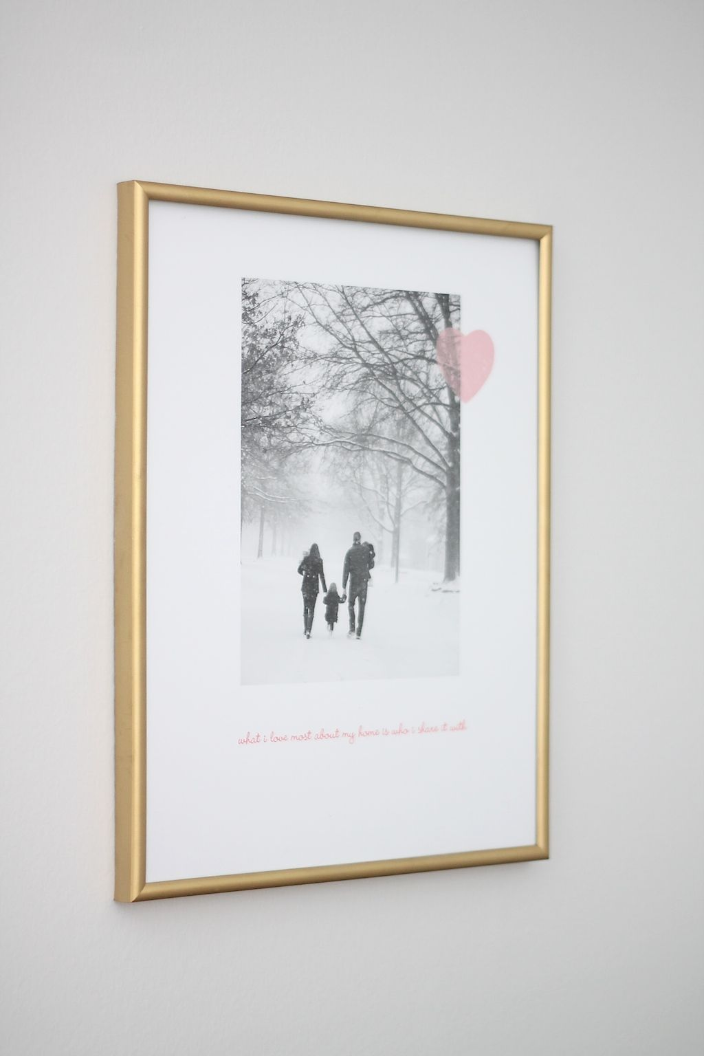 Frame a photograph with a favorite quote for a beautiful ...