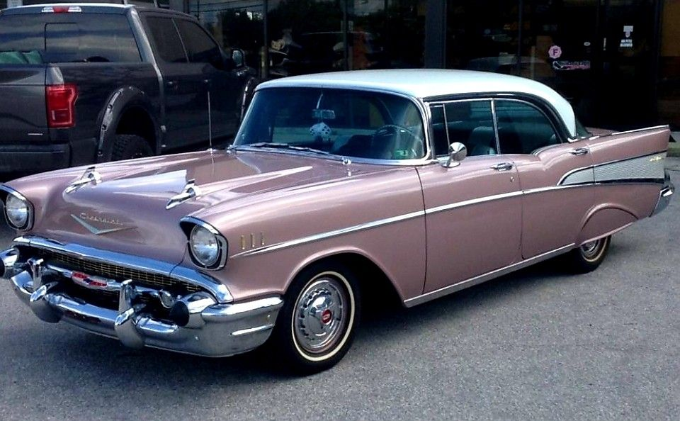 1957 Chevy Bel Air Sport Sedan Options Include Power Steering