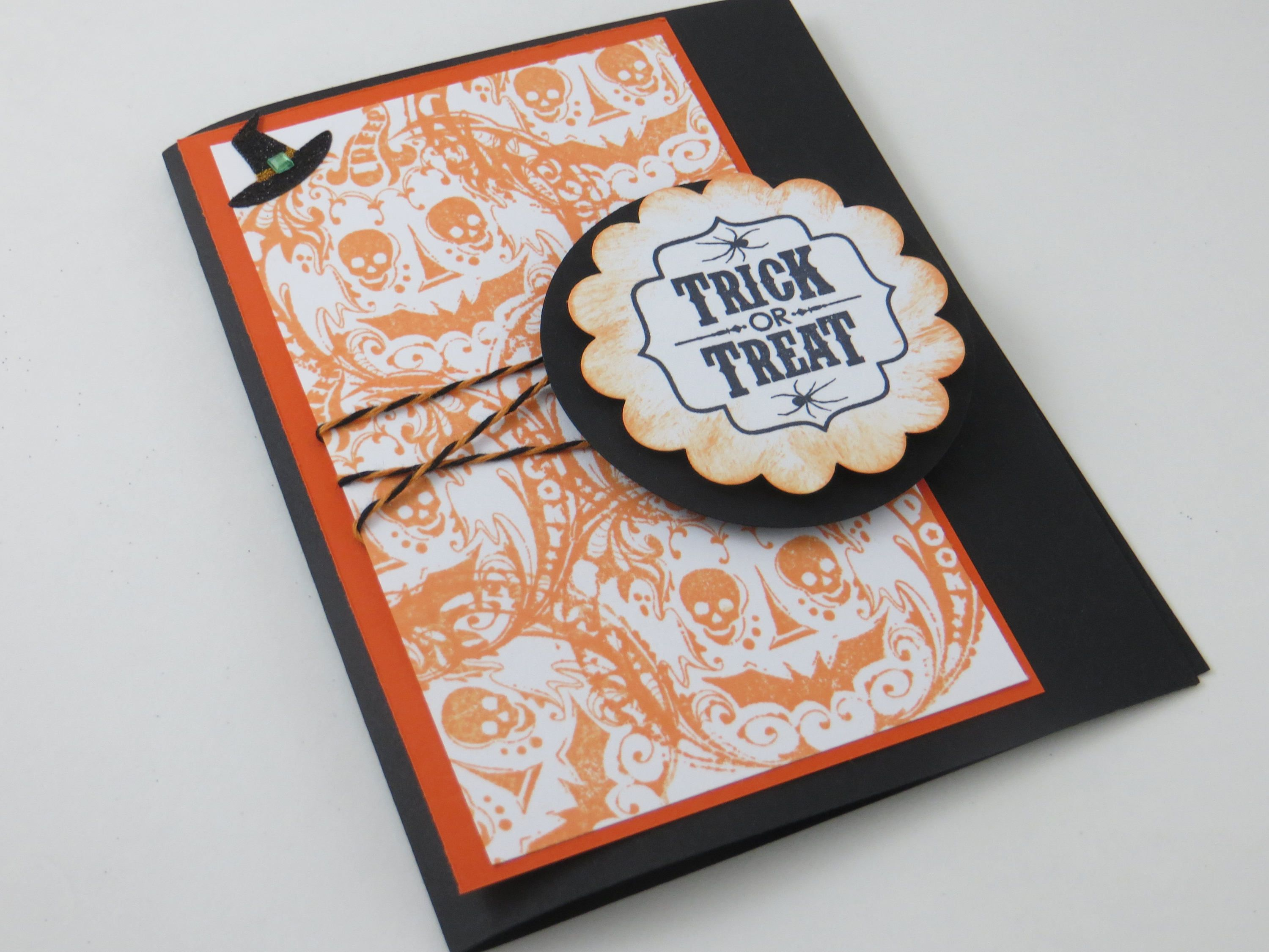 Halloween card trick or treat card handmade greeting card halloween card trick or treat card handmade greeting card m4hsunfo