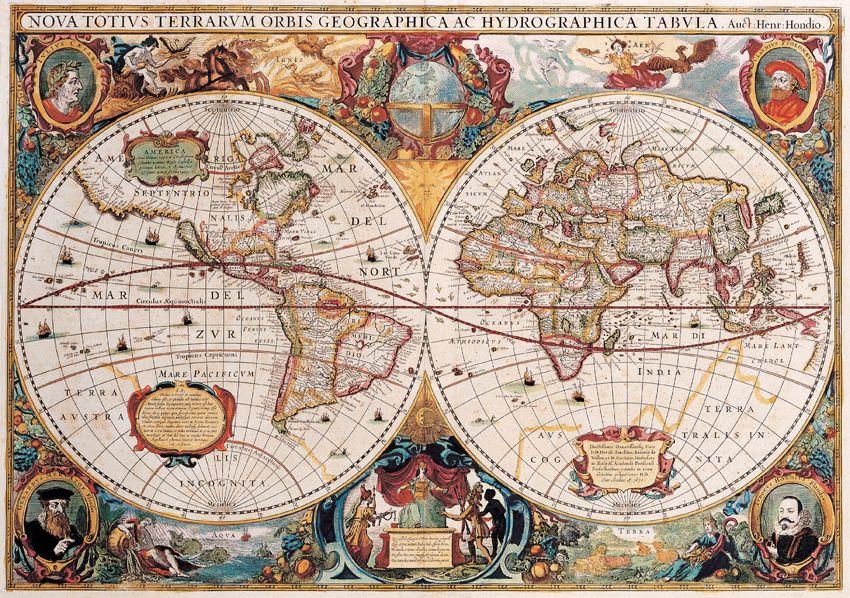 Antiguo Mapamundi, Año 1630 | Mapas del mundo antiguo, Mapamundi ...