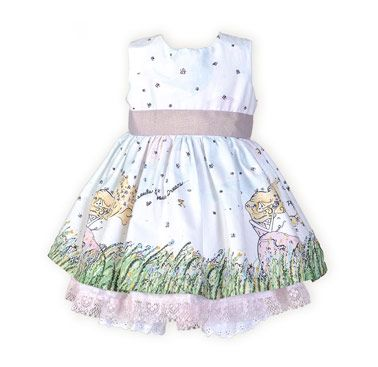 81c8e313659f Girls  Cotton Floral Garden Infant Girl s Dress w Panty Single ...