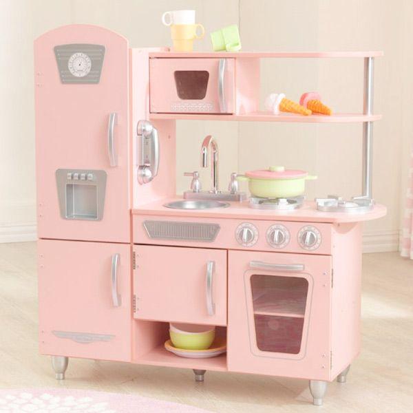 Cocina vintage rosa Kidkraft  Cocinas y accesorios