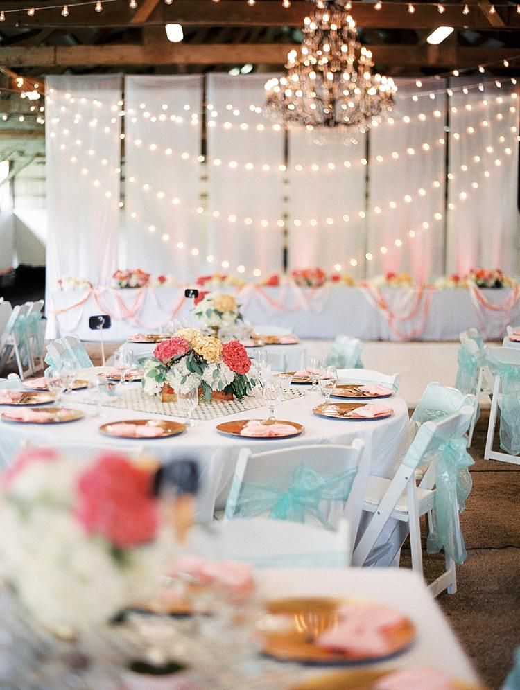 barn wedding venue london%0A Round tables with white resin chairs