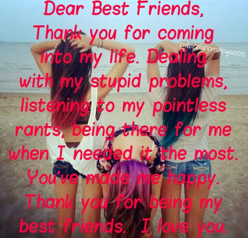 Best Thanks Quotes: Dear Best Friend, Aka Fluffycans, Thank You For Coming