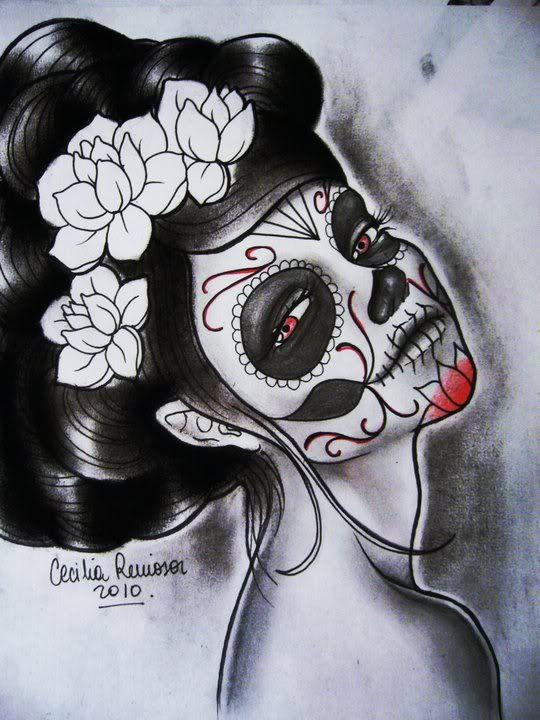Pin De Ines Bogantes En Catrina Pinterest Day Of The Dead Art