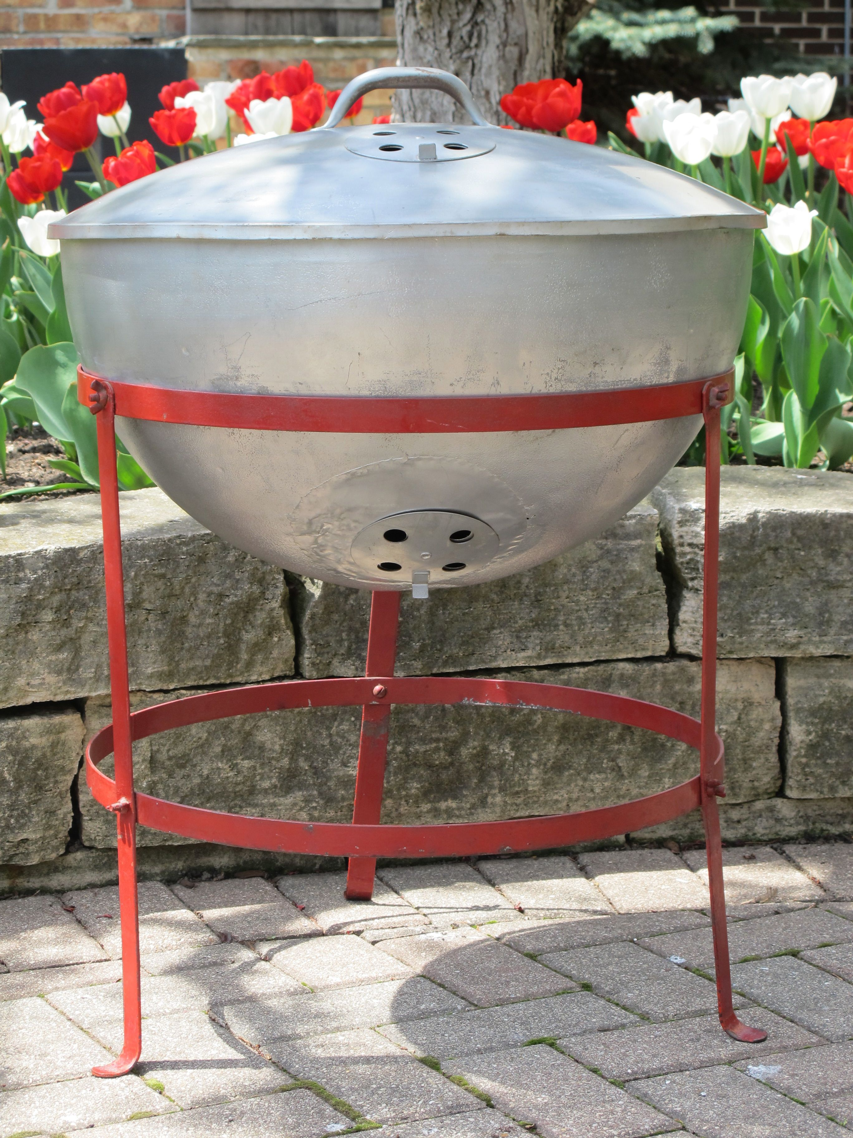 The Original Weber Grill From 1952 George Stephen S Home Run Weber Kettle Kettle Weber Grill