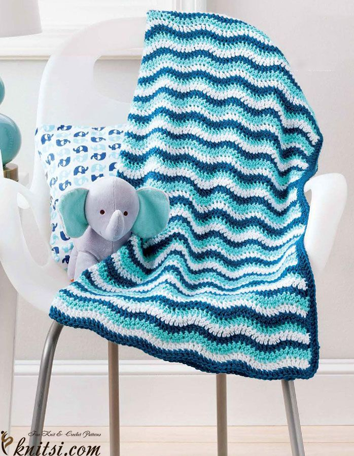 Blanket crochet pattern free knitsi.com/knitting-for-home/359 ...