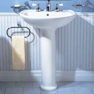 "Bathroom Design Centers Enchanting American Standard Cadet 24"" Pedestal Bathroom Sink Sink Finish 2018"