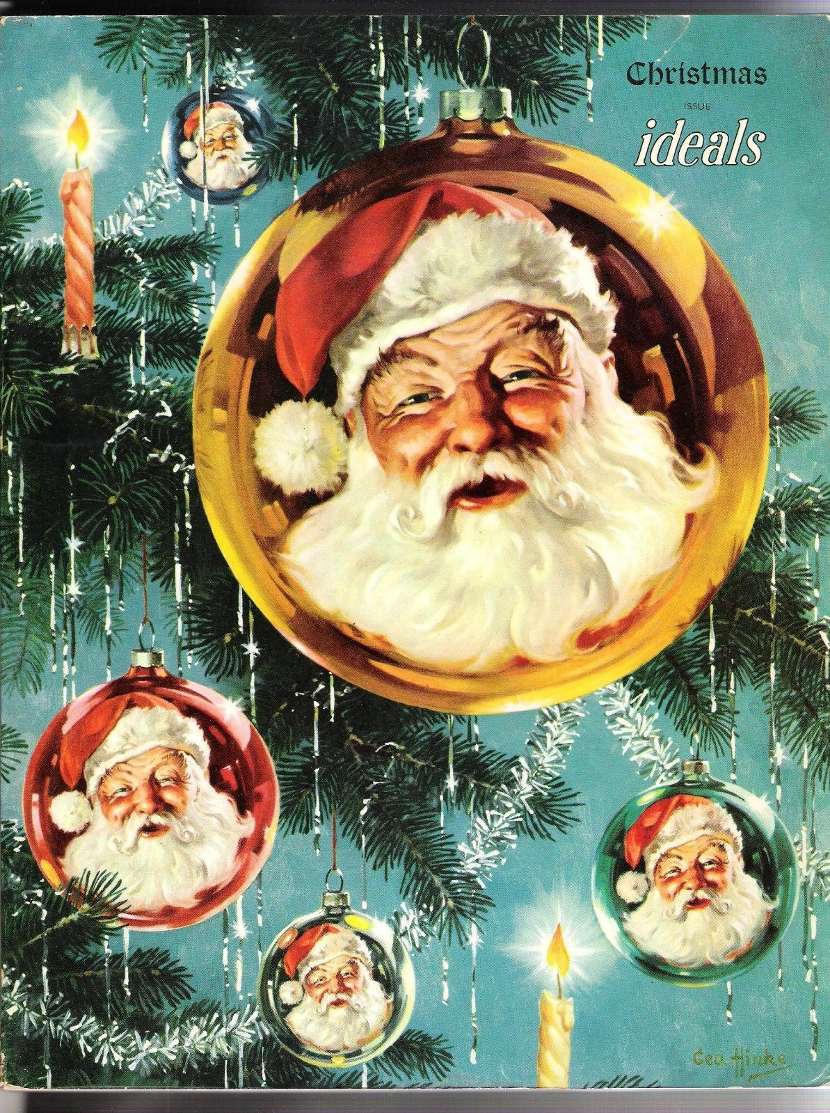 Old Ideals Christmas Magazine 1950 Vol 7 No 6 Santa Art by George ...