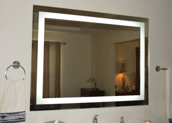Bathroom Mirror With Vertical Side Lights Bathroom Accessories