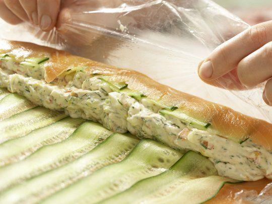Lachsrolladen statt Lachs Schinken (rohen oder gekochten) vewenden