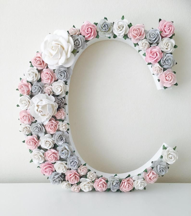 Flower letters for nursery , flower letters, nurse