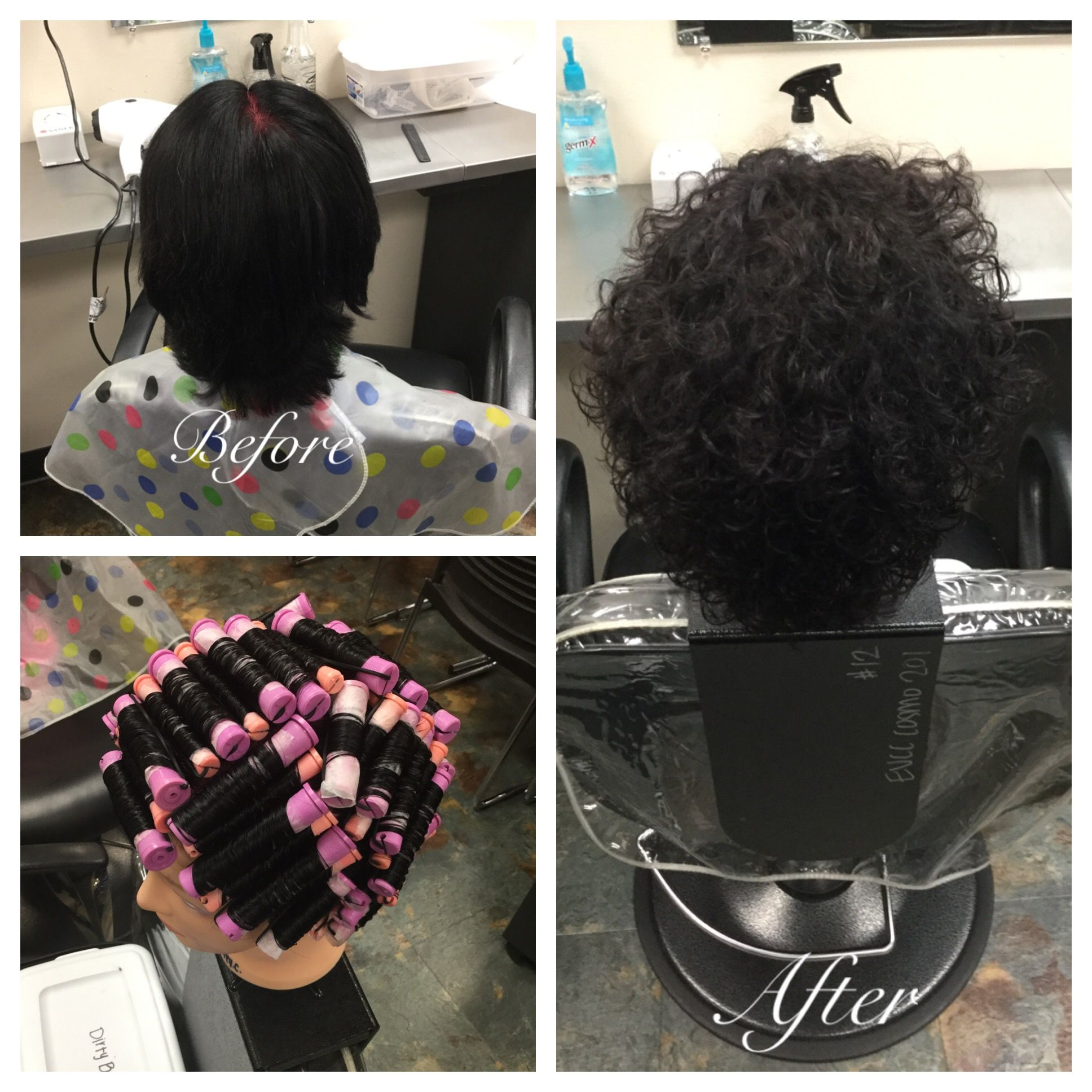 Straight perm groupon - On November 17th I Did A Basic Straight Back Wrap I Used Purple And Pink