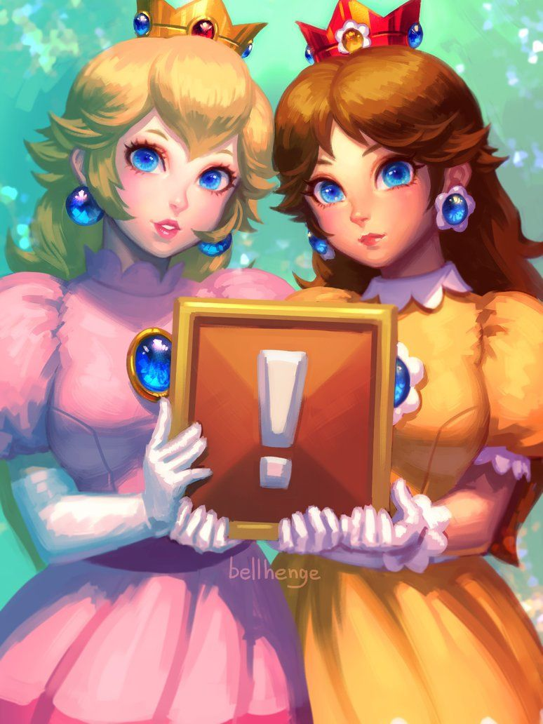 Peach and Daisy, old ver. by bellhenge on DeviantArt