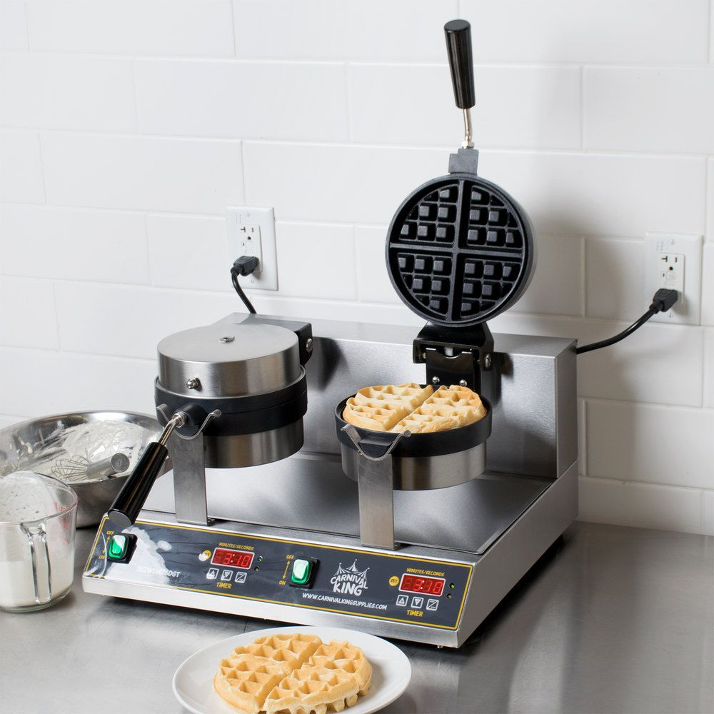 Carnival King Wbm26dgt Non Stick Double Belgian Waffle Maker With