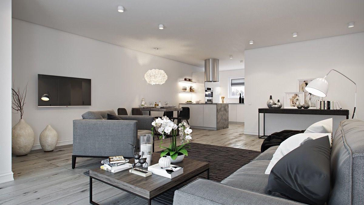 Innenarchitektur wohnzimmer grundrisse sleek open plan interior design inspiration für ihr zuhause