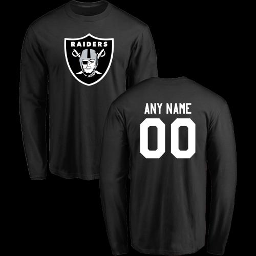 Men Oakland Raiders Design-Your-Own Long Sleeve Custom NFL T-Shirt ... e15c4f513