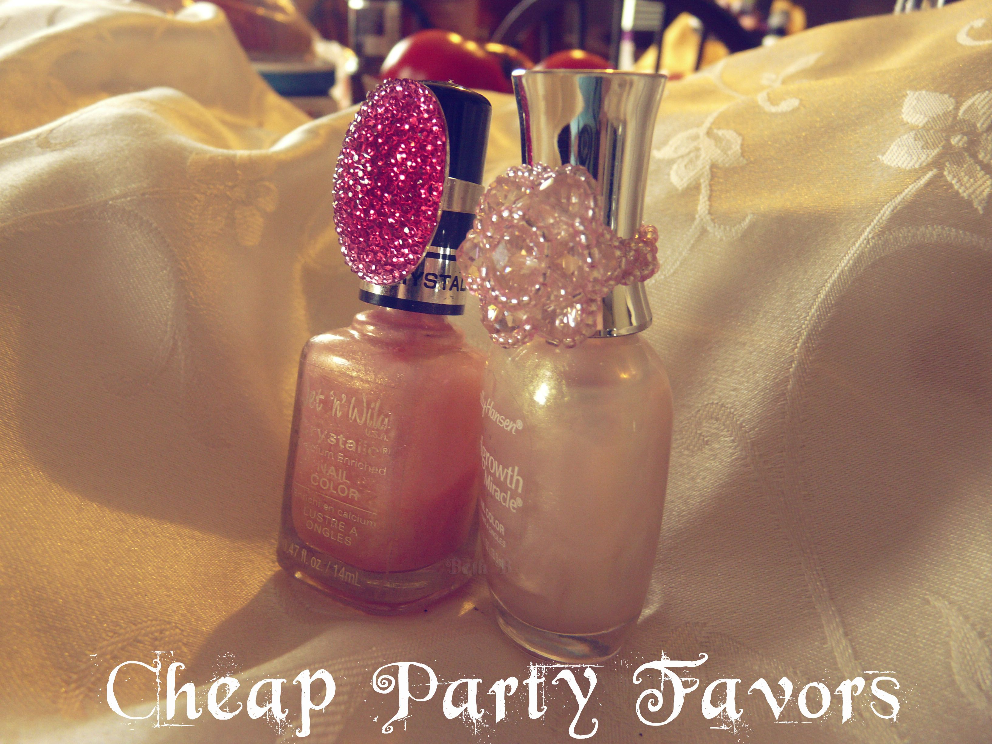 Baby Shower Favors Under 2 ~ Cheap party favors nail polish matching cocktail ring