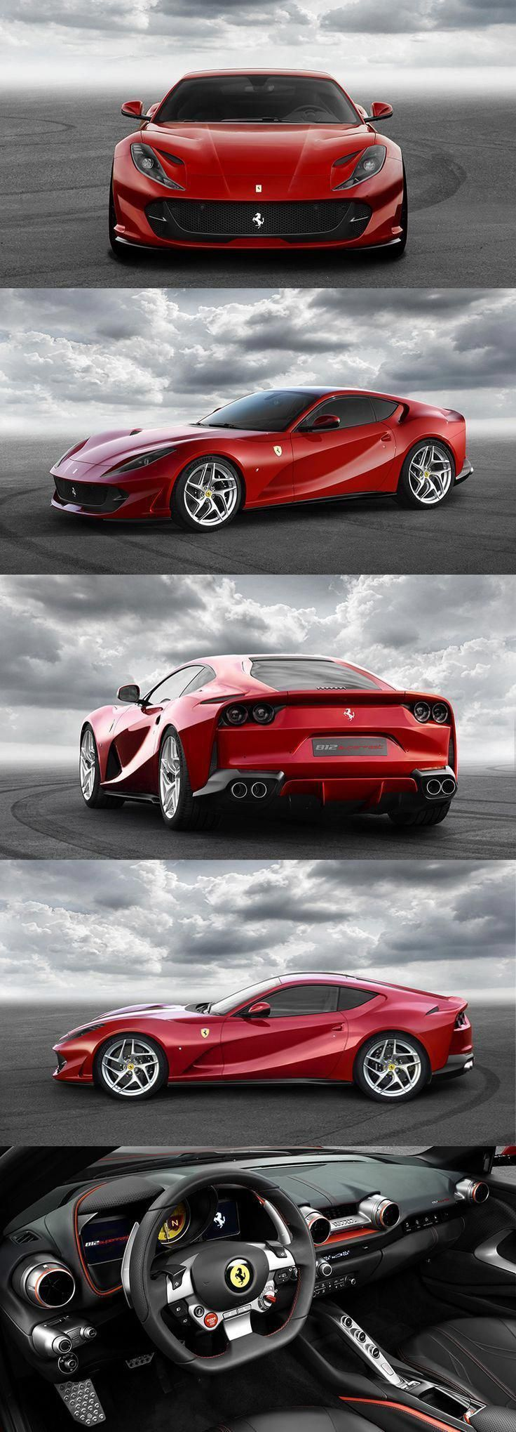 Ferrari 812 Superfast 800 Hp Ferrari Superfast Luxurycars Coolcars Ferrariclassiccars Cars Super Cars Ferrari