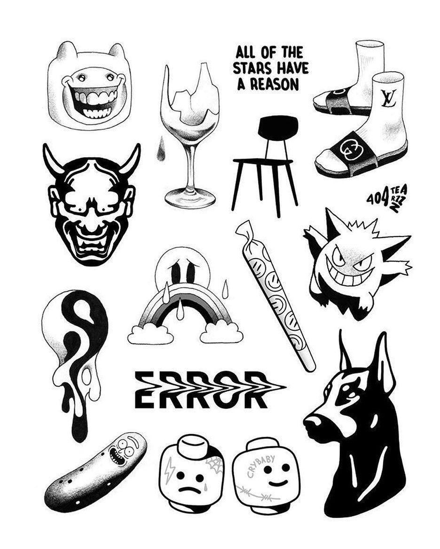 Photo of 10k likes, 26 comments – Tattoo Sketches (@novyypartak) on Instagr …