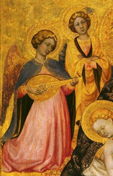 Pietro di Domenico da Montepulciano - Madonna con Bambino e Angeli, dettaglio - 1420 -  Tempera su tavola, fondo oro - The Metropolitan Museum of Art, New York