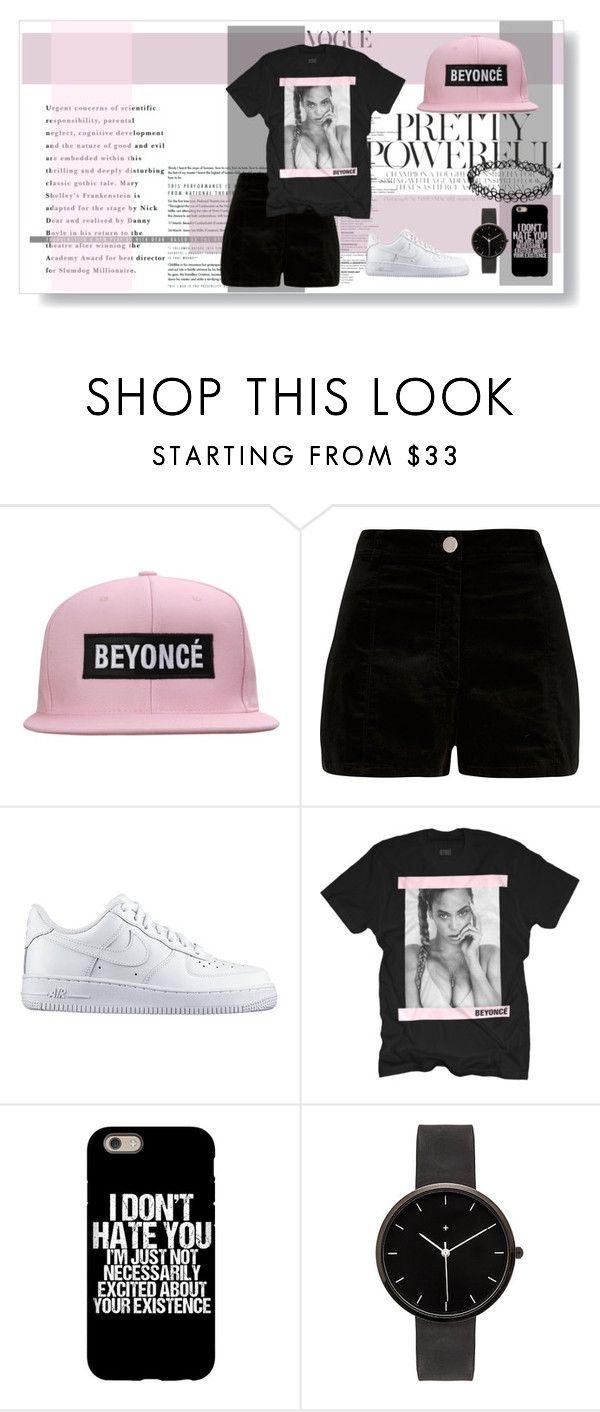 """""""Untitled #136"""" by iamnobody59 ❤ liked on Polyvore featuring River Island, NIKE and I Love Ugly"""