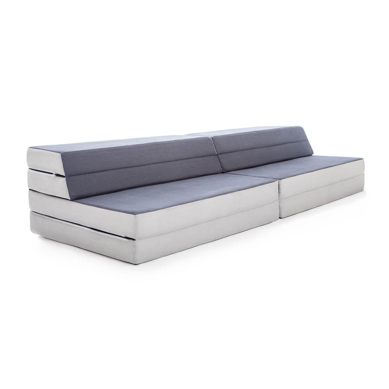 Lucid Convertible Folding Foam Sofa Bed Grey In 2020 Foam Sofa Foam Sofa Bed Mattress Sofa