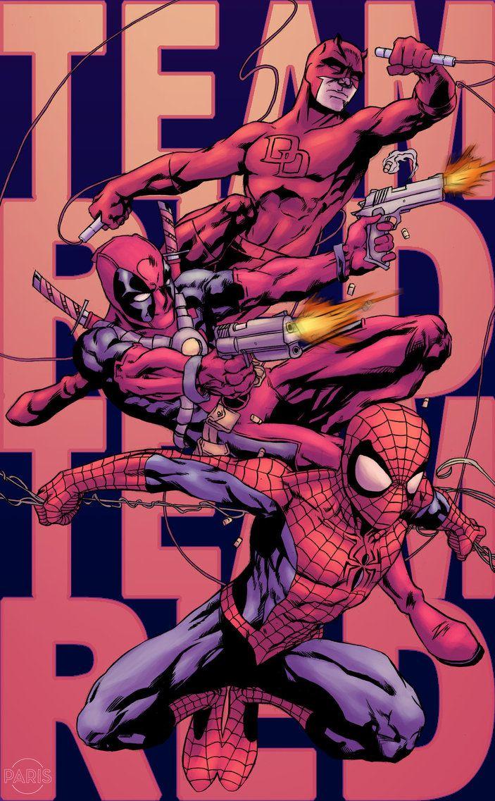 Team Red: Daredevil, Deadpool & Spider-Man - Paris Alleyne