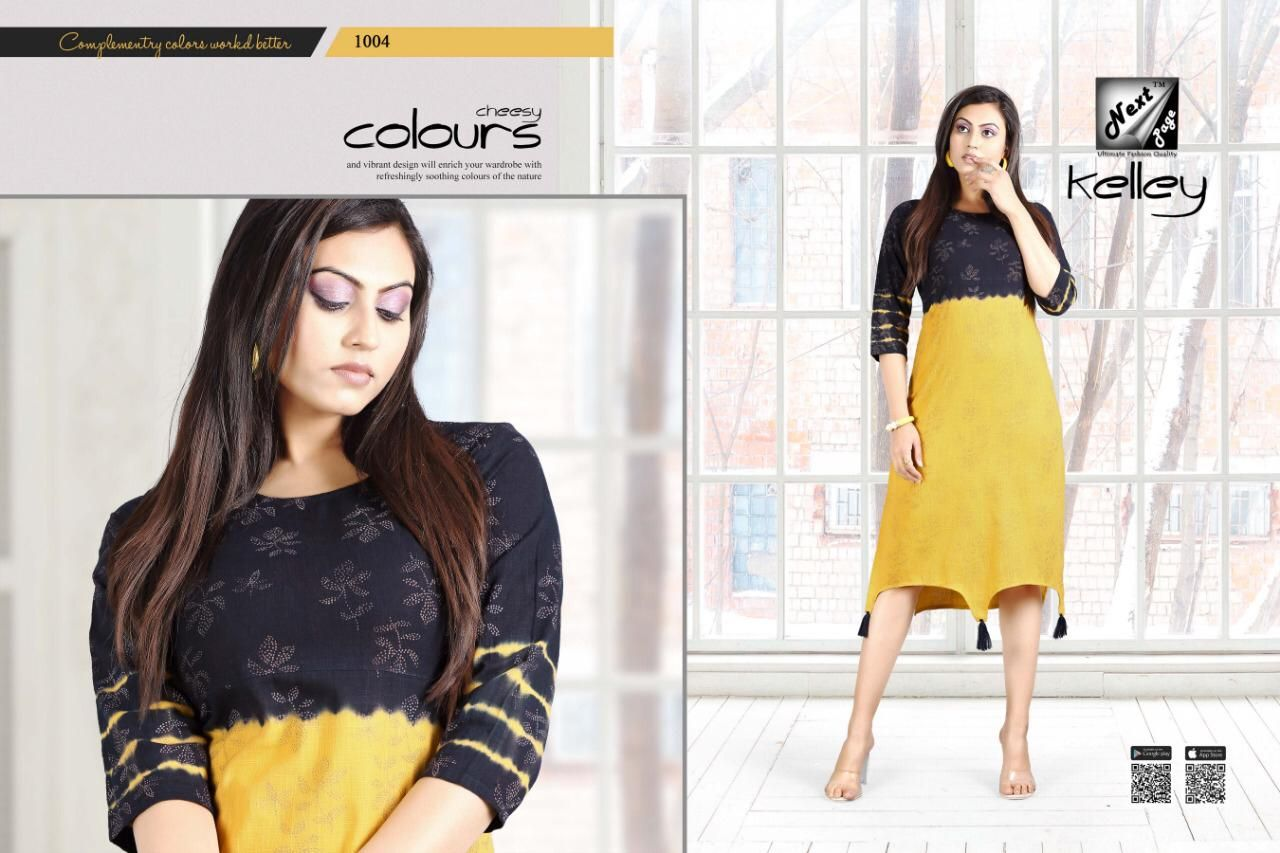 78a5e0f0a Next page  Manufacture  2019 new Designer kelley Cotton kurti buy wholesale  price At catalog  fashion  mart in Surat. NEXT PAGE KELLEY DAILY WEAR KURTIS