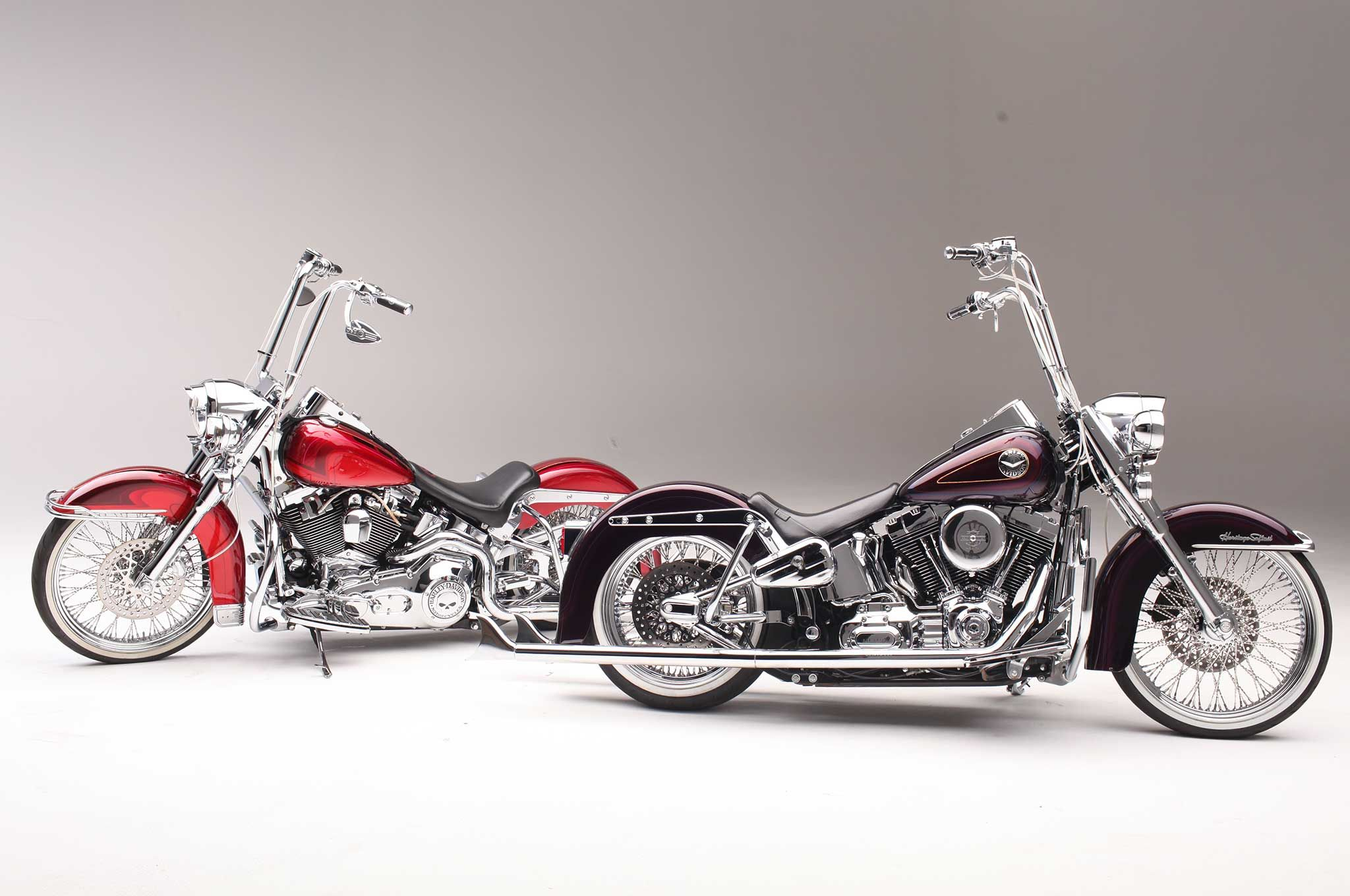 Heritage Softail Softail Deluxe Two Harleys One Painter Softail Deluxe Harley Davidson Softail [ 1360 x 2048 Pixel ]