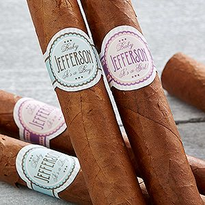 Personalized New Baby Cigar Labels - It's A ....